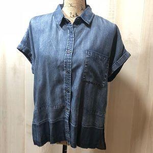 Laju Los Angeles 100% Tencei Raw Hem Shirt -Medium